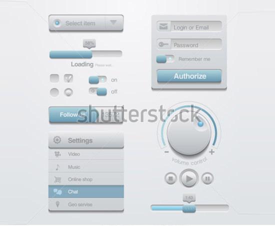 ui button design elements kit