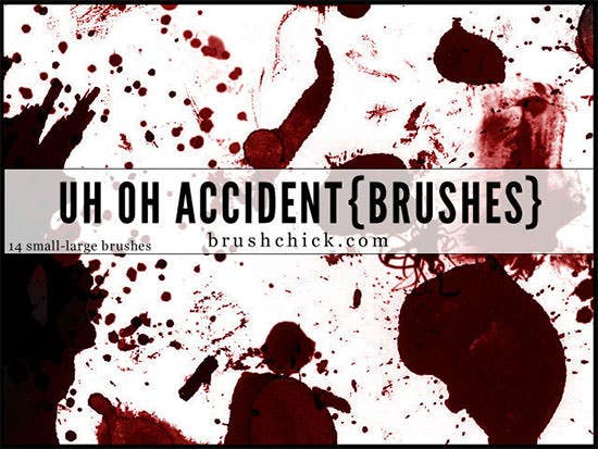 uh oh accident splatter brush pack