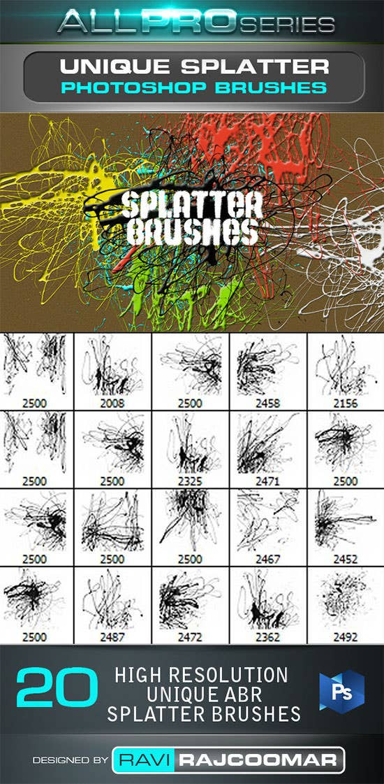 unique splatter photoshop brushes1