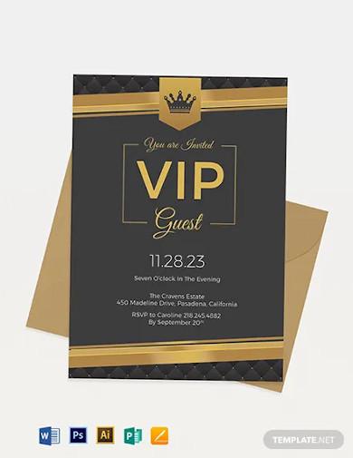 vip invitation template