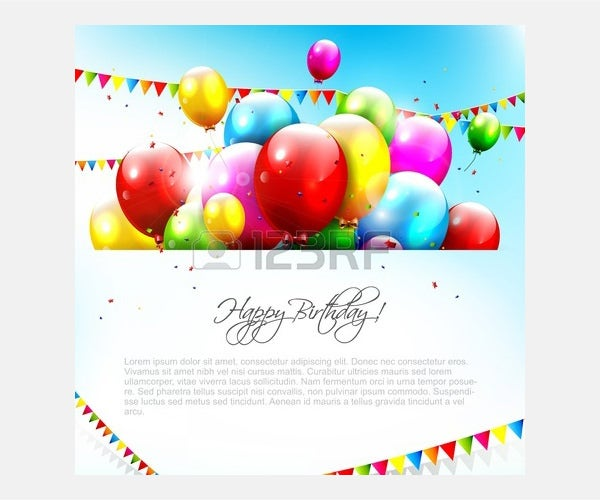 Vector - Colorful birthday background with place for text