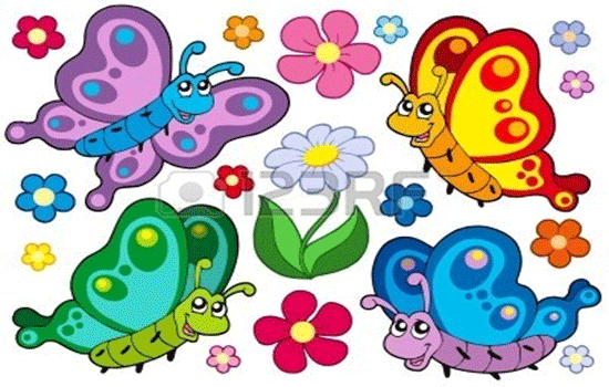 vector cute butterflies
