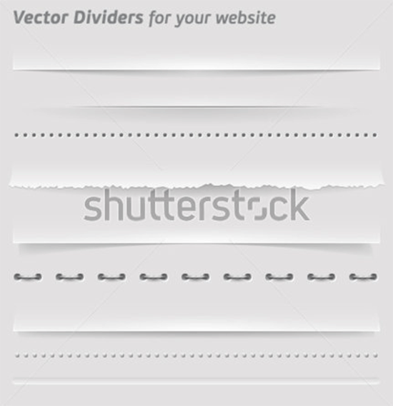 vector dividers and horizontal rules for your website