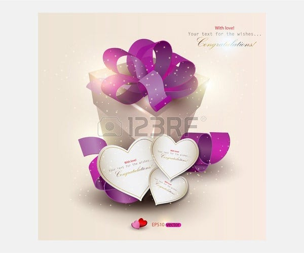 Vector - Elegant background with gift and gift cards. Vector illustration
