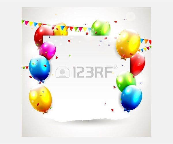 Vector - Modern birthday background with place for text
