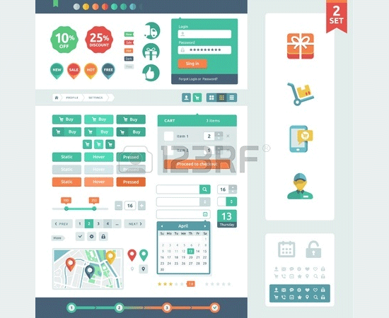 vector ui elements for web1