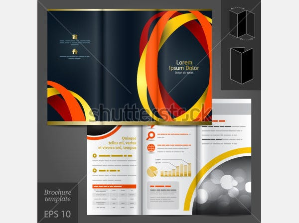 61 print brochure templates psd designs free for Black brochure template