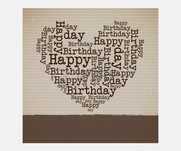 Vector - happy birthday over lineal background vector illustration