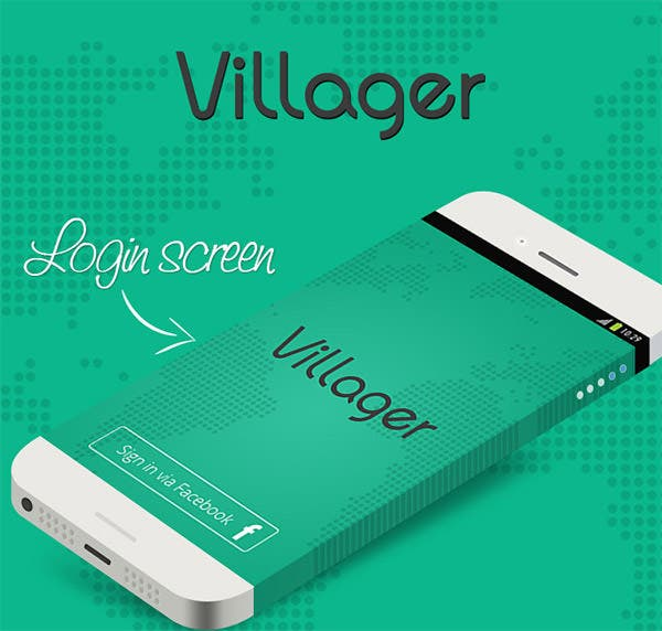 villagers find app on behance copy