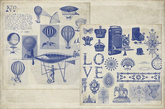 vintage ephemera photoshop brushes1