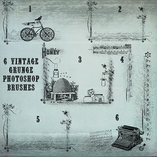 vintage grunge photoshop brushes1