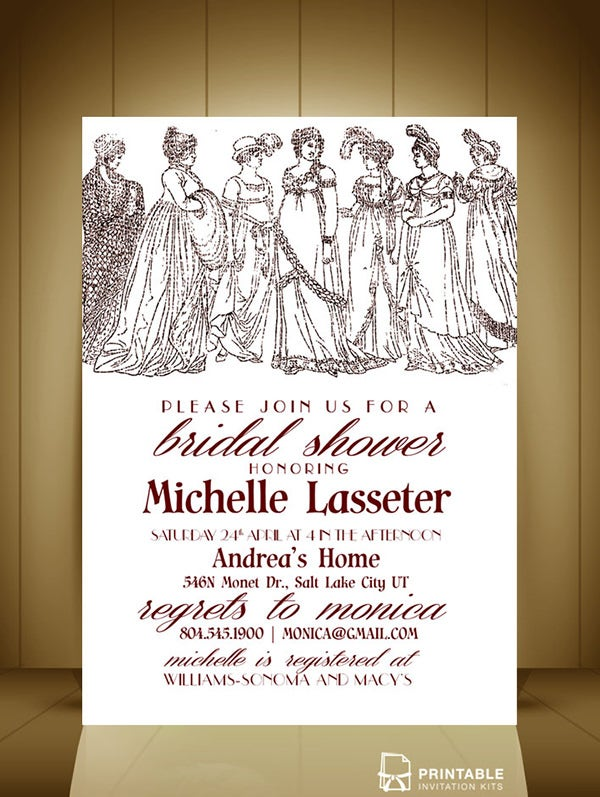 Ladies Bridal Shower Invitation