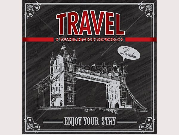 London Travel vacation poster