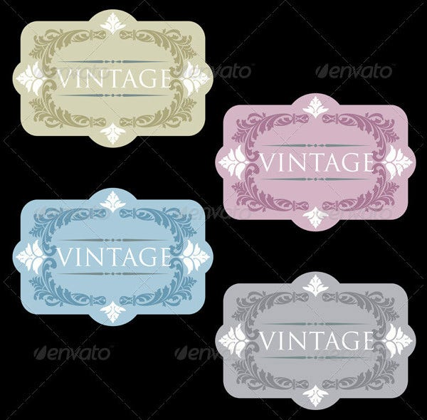 vintage wine labels set gallery