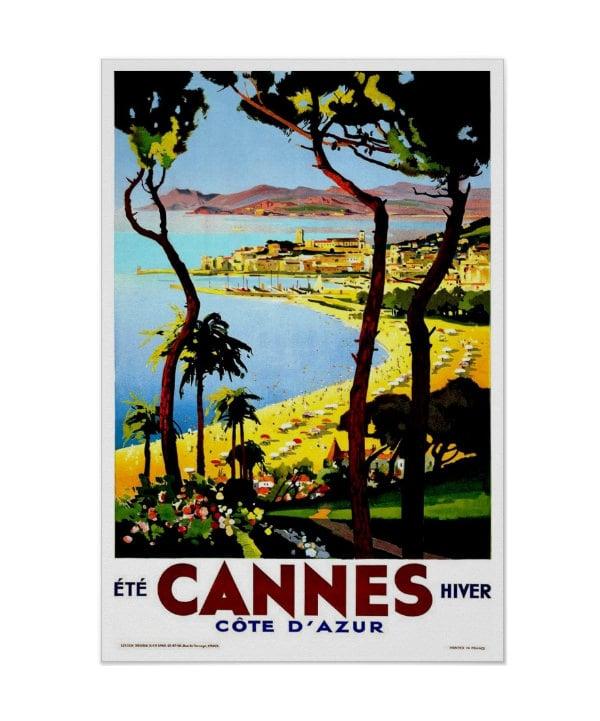 vintage travelcannes poster