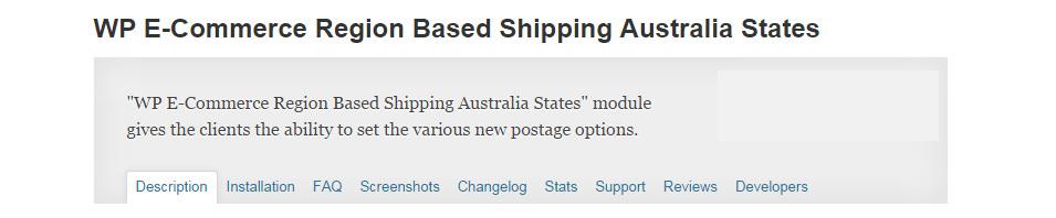 WP E-Commerce Region Based Shipping