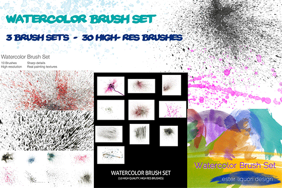 watercolor brush set mega