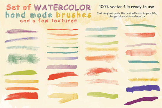 watercolor brushes and textures1