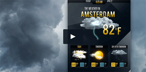 weater forecast video background