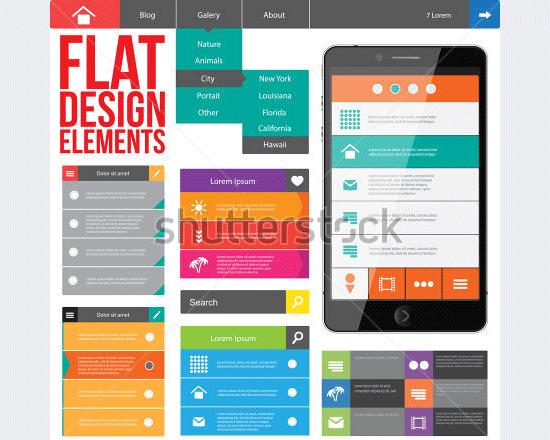 web design elements buttons icons1