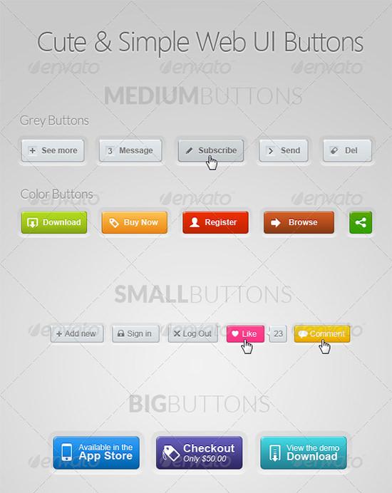 web ui buttons kits