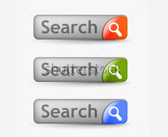web search bars with includes three color versions