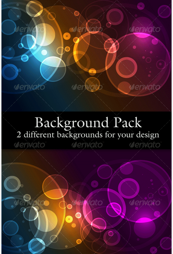 website background pack with circles