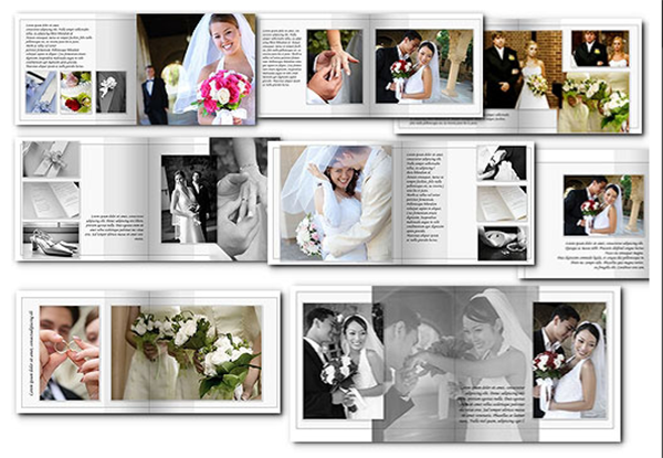 Elegant Wedding Albums With Free Album Templates