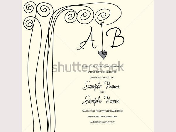 wedding invitation panel heart tree