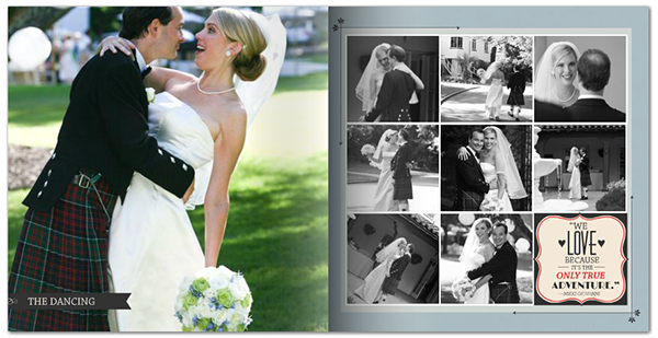 Wedding Album Design Ideas wedding album wraparound cover Vintage Wedding