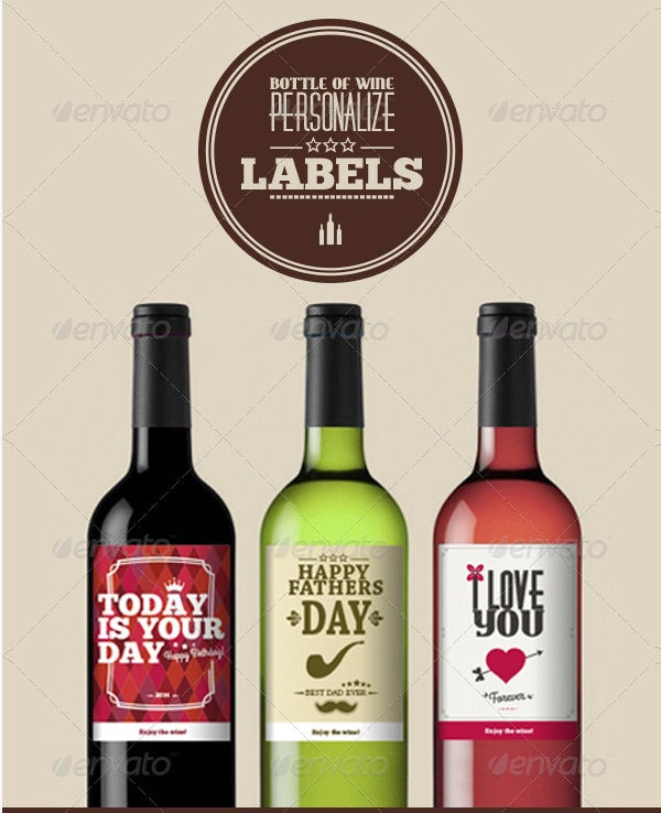 Wine Label Designs Set