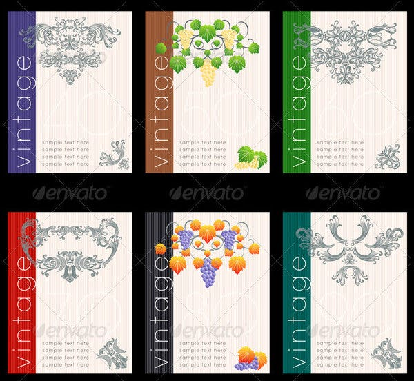 This Wine Label Designs Set Is Available In A Set Of Three Vector Files  Along With EPS Files As Well. Fully Layered And Fully Scalable In Nature  And Can Be ...  Free Wine Bottle Label Templates