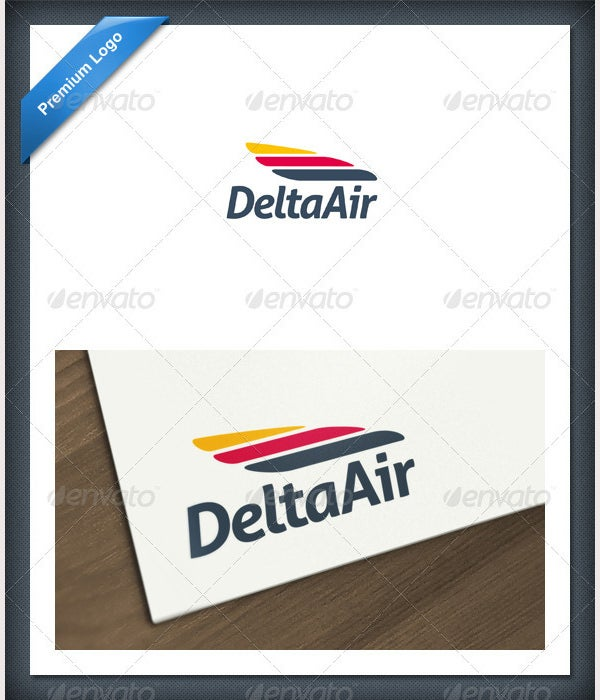 wing logo template - Southwest Airlines Ppt Template Free Download