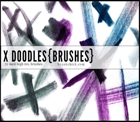 x doodle brush stroke brushes