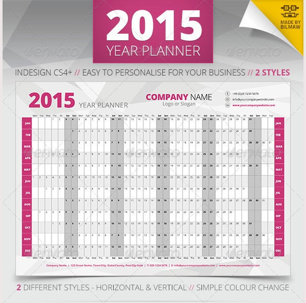 year wall planner
