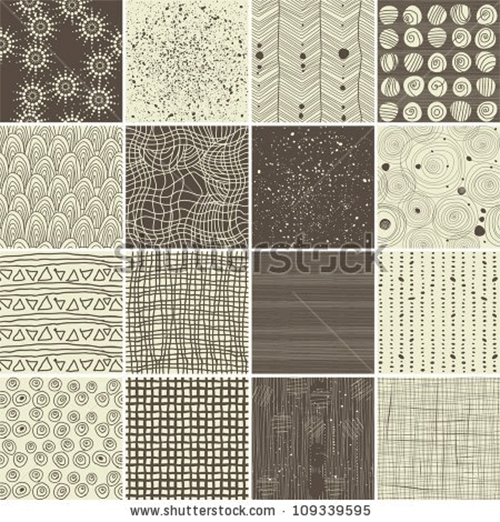 a set of 16 doodle seamless patterns