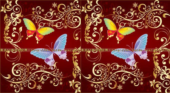 butterfly flowers vector brush