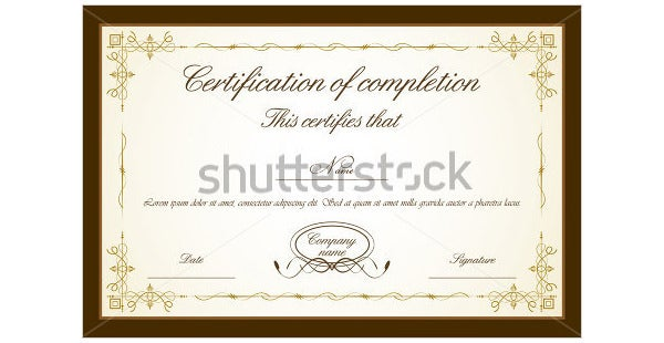 certificate template with floral frame
