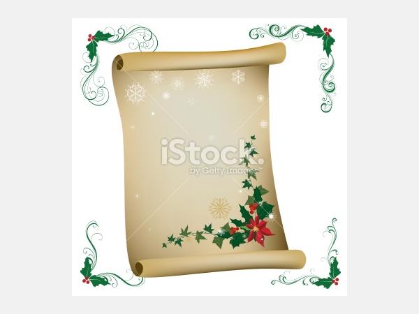 christmas scroll - Illustration