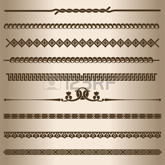 dividing lines and ornaments vector