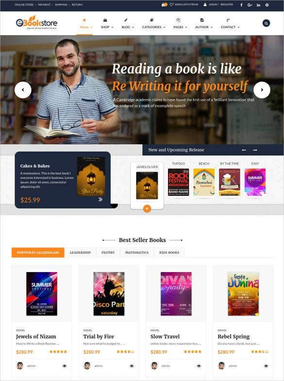 e-library-book-store-php-website-template