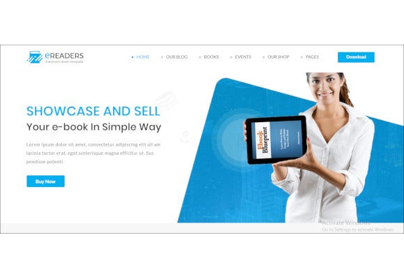 e library book store php website template2