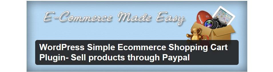 WordPress Simple Ecommerce Shopping Cart Plugin