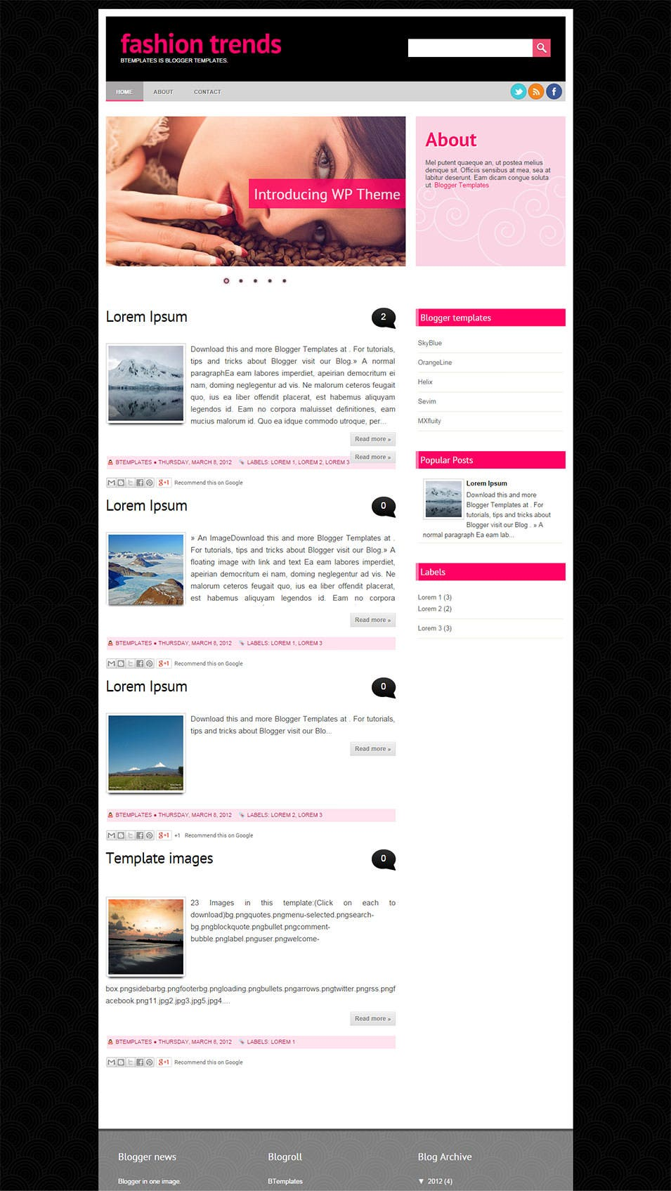 Fashion blog template blogger free Free Blogger Templates DeluxeTemplates