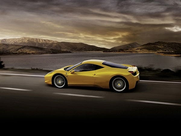 ferrari 458 italia yellow car copy