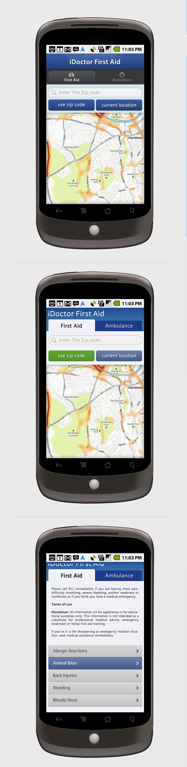 idoctor firstaid android app design