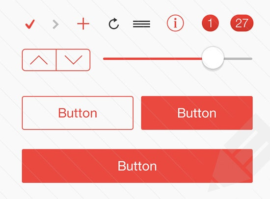 ios 7 button color kits