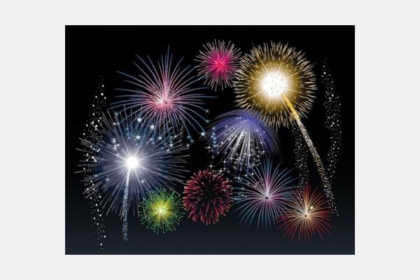 many fireworks over black sky