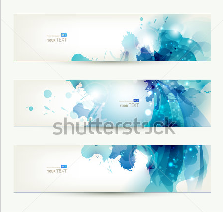 set of three banners