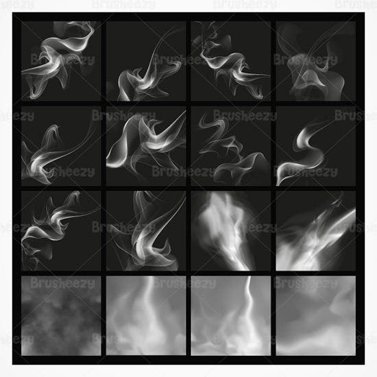 smoke brushes and psd pack